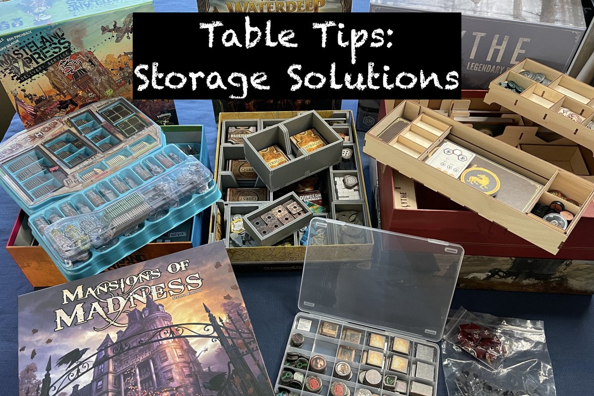 Table Tips - Storage Solutions