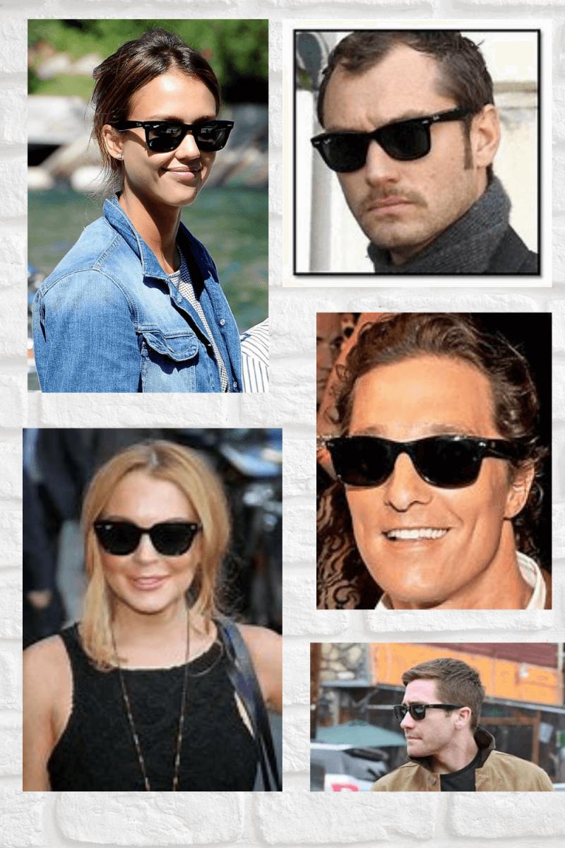 Celebrities wearing wayfarers