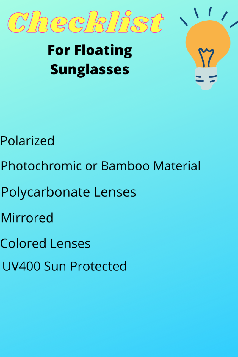 Checklist for Floating Sunglasses