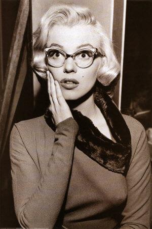 Marilyn Monroe Cat Eye Glasses