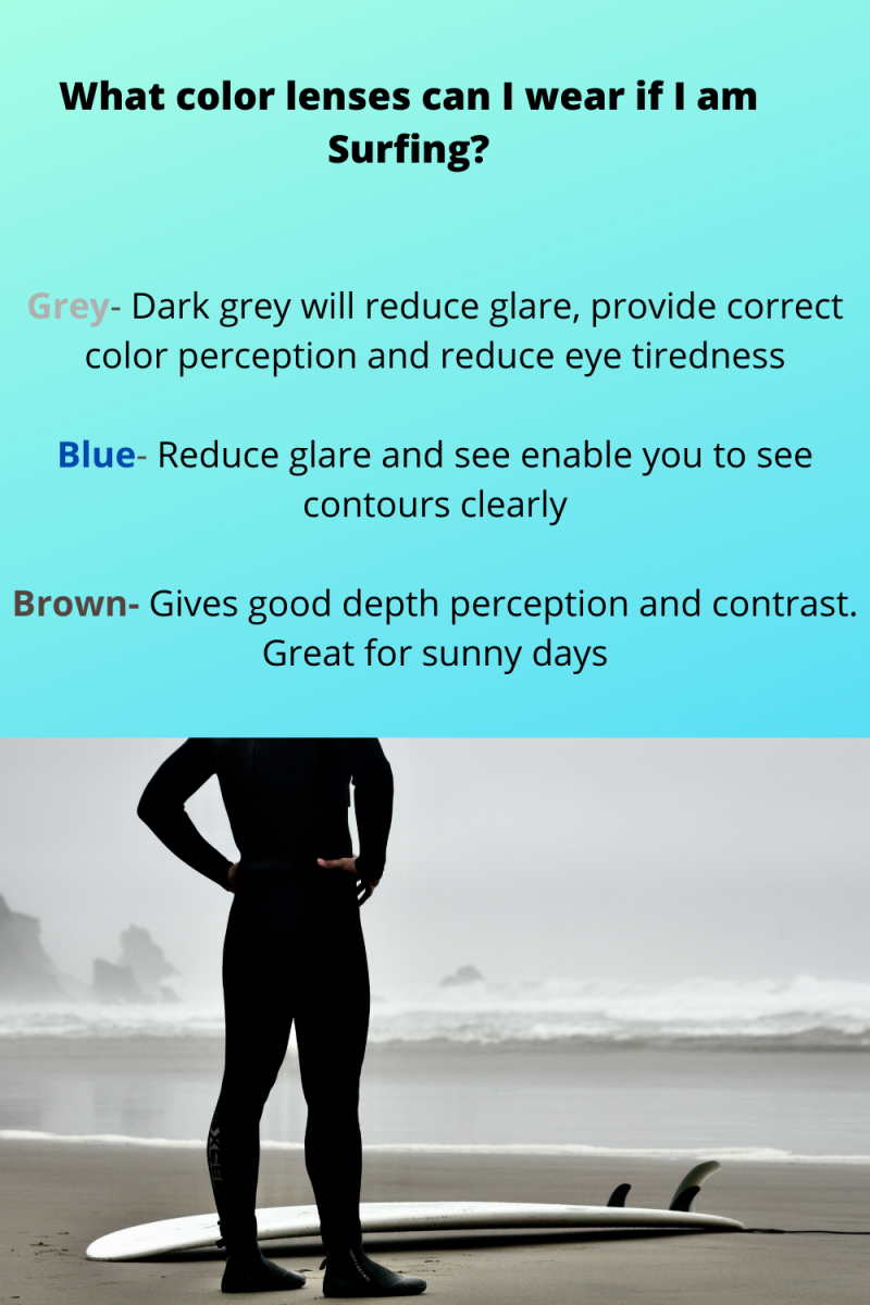 what color lenses can i wear if i am surfing