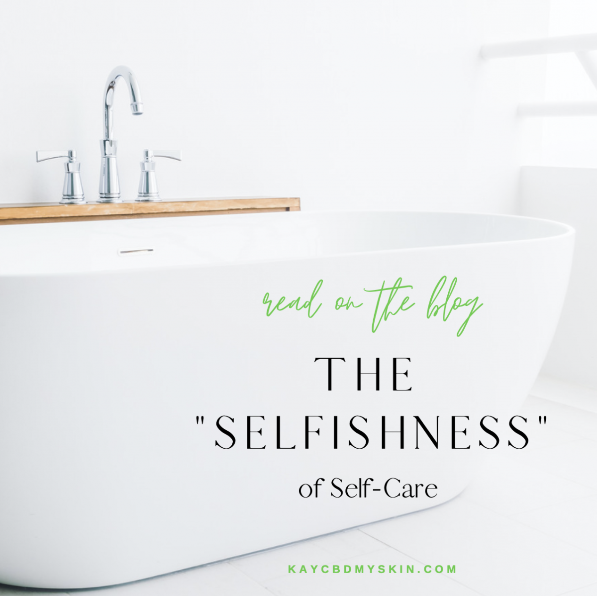 """The """"Selfishness"""" of Self-Care?"""