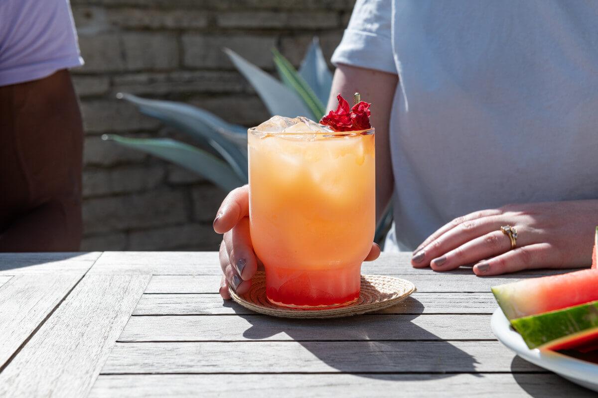 Mango Hibiscus Tequila Sunrise