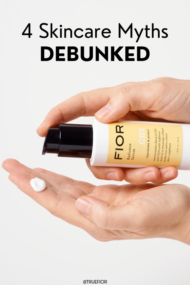Four Skincare Myths DEBUNKED