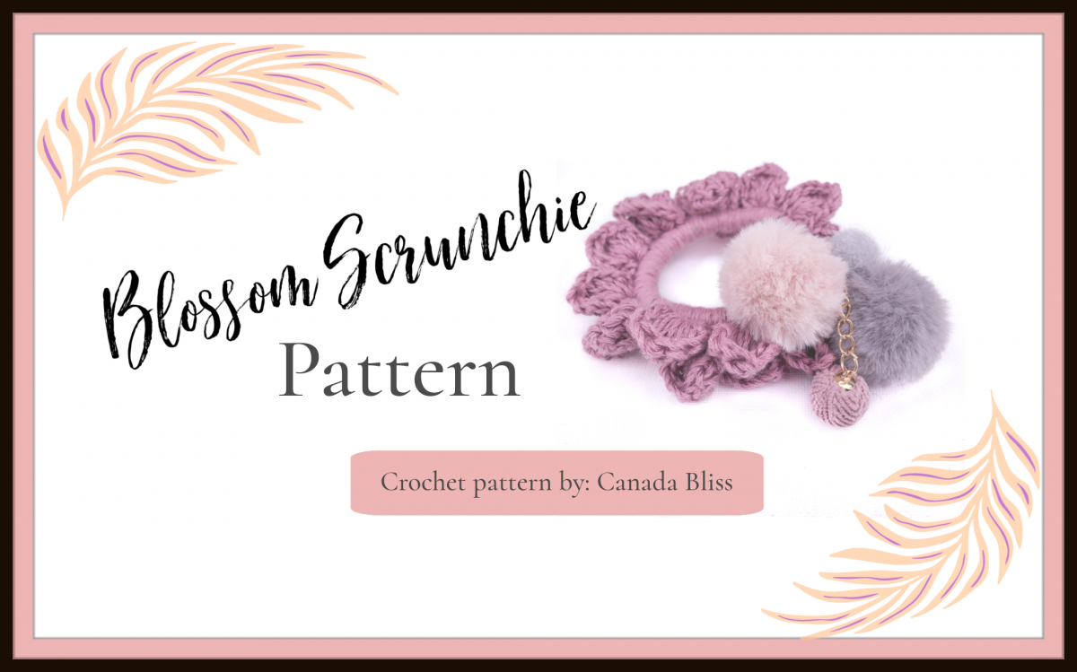 Crochet Blossom Scrunchie Pattern