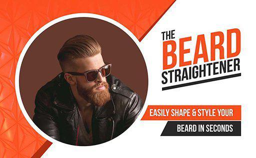 The heated beard straightener - a powerful beard tool