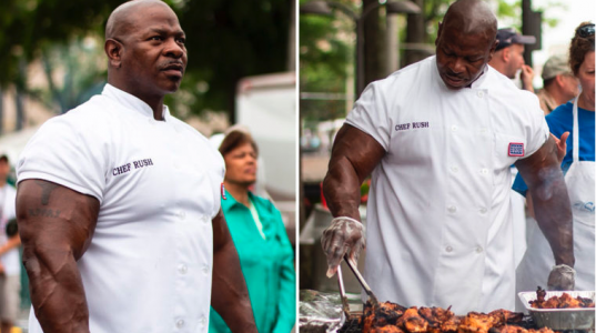 Meet the Freelance Chef Whose 24-inch Biceps Went Viral Cooking at the White House