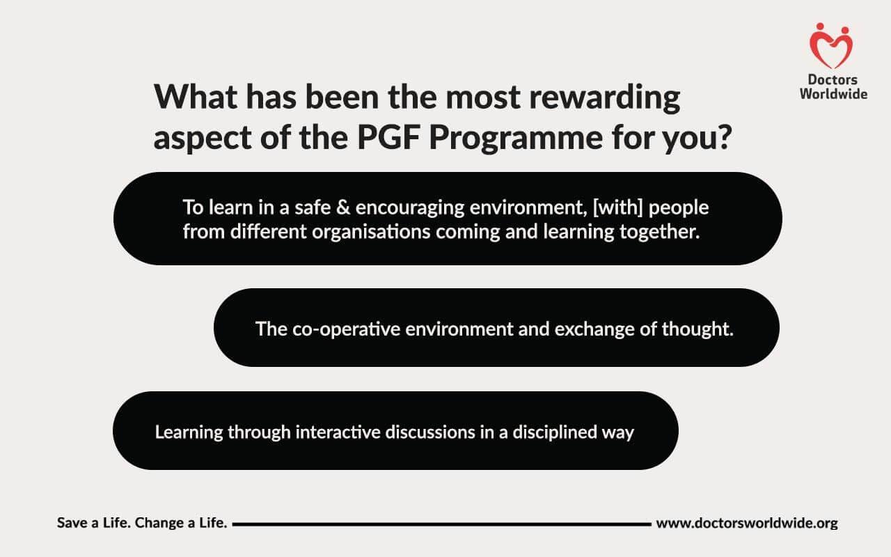 Rewarding aspect of the PGF programme