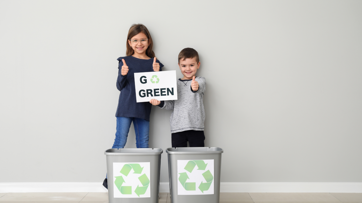 Recycling begins at home and children can help a lot by sorting recyclables