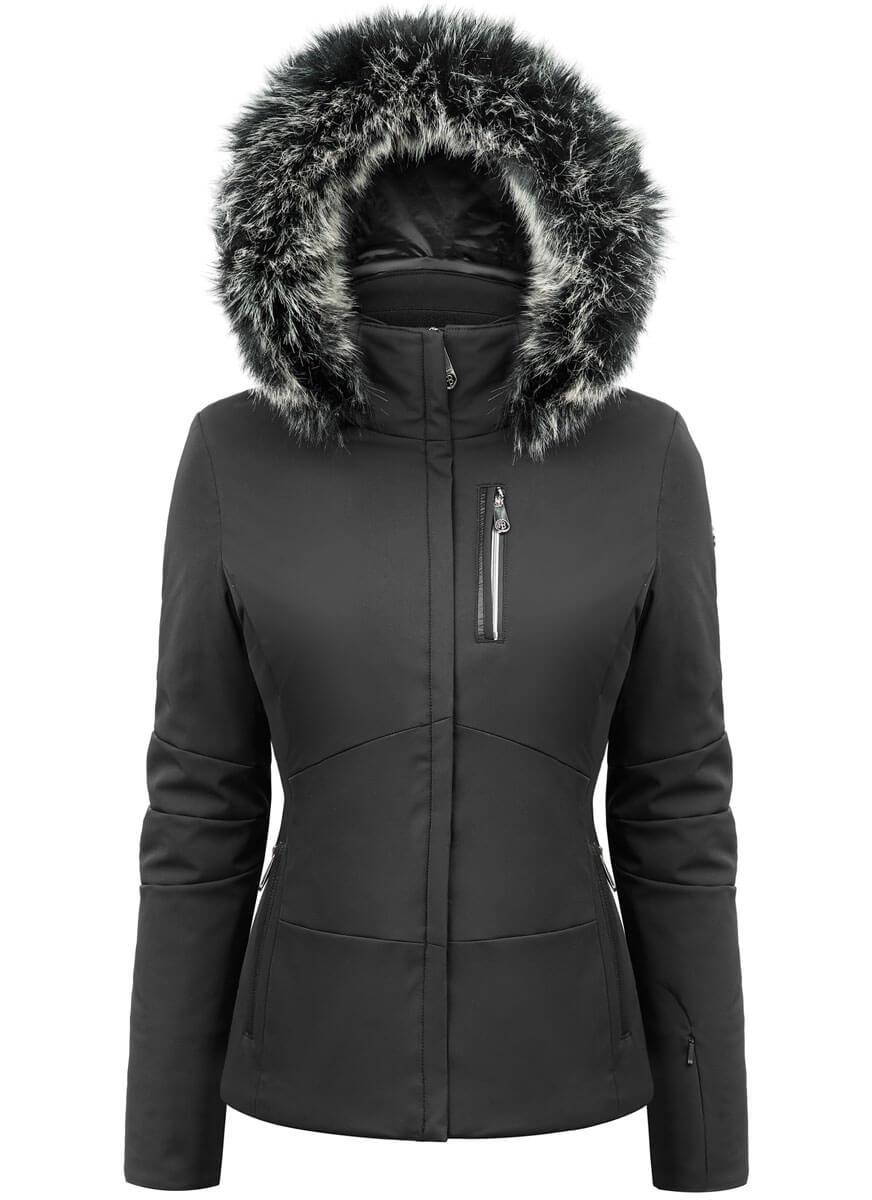 Poivre Blanc black faux fur ski jacket