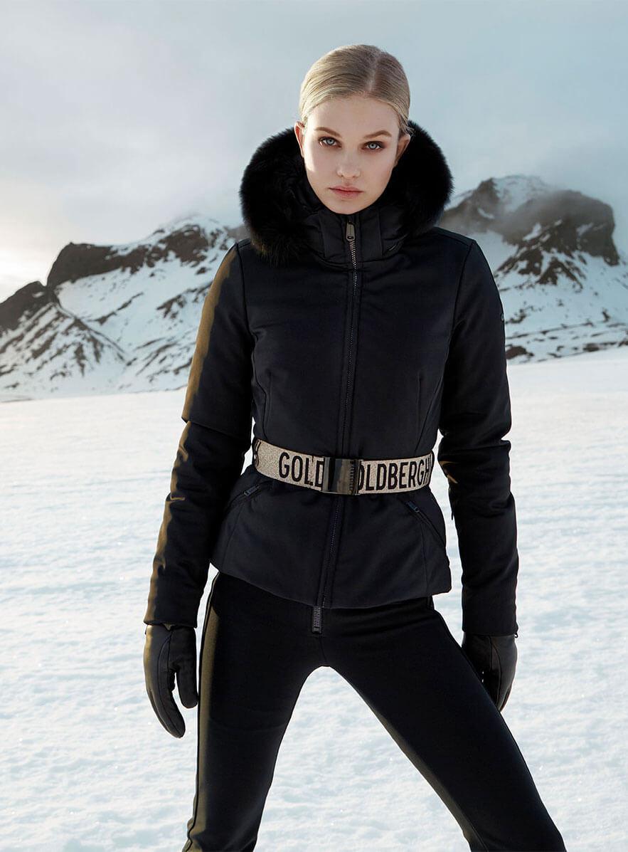Hida Black Ski Jacket from Goldbergh