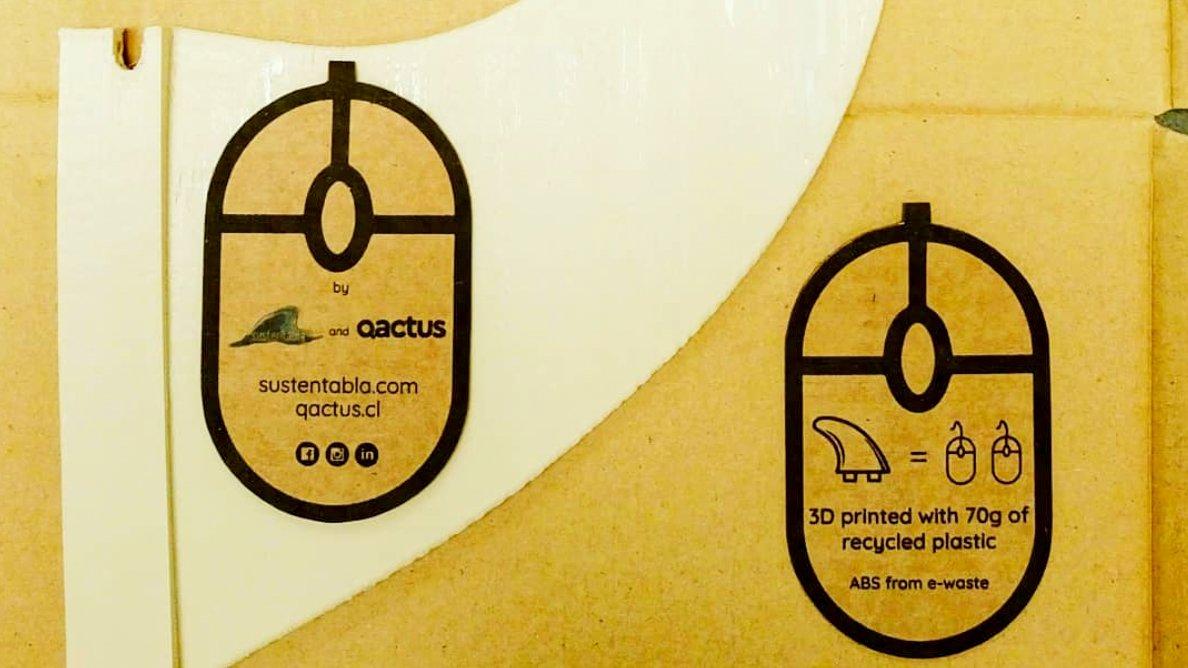 Quillas de surf impresas en 3D con plástico reciclado