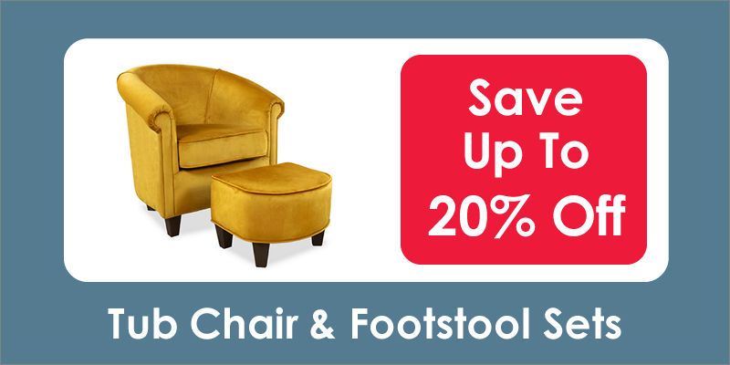 Tub Chair and Footstool Sets - Save Up To 20% Off